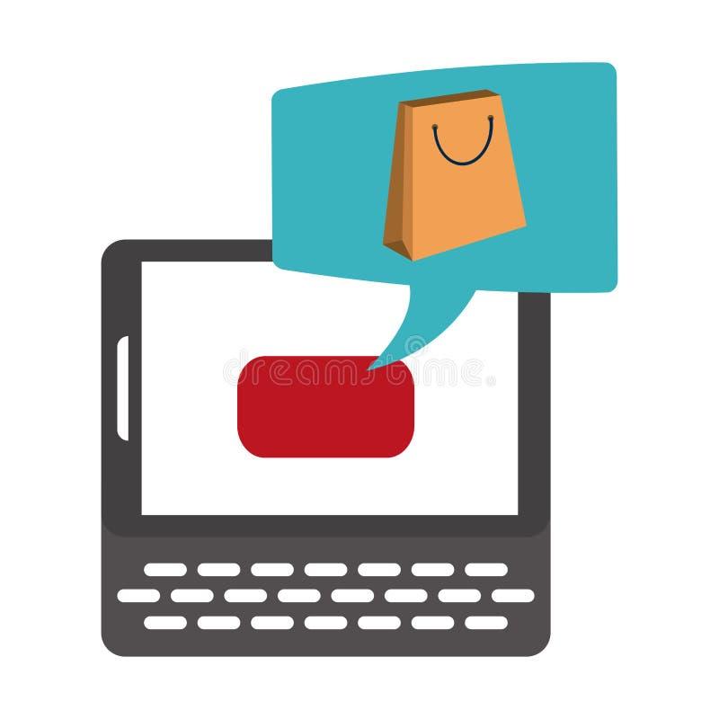 Zakupy i zapłata online ilustracja wektor