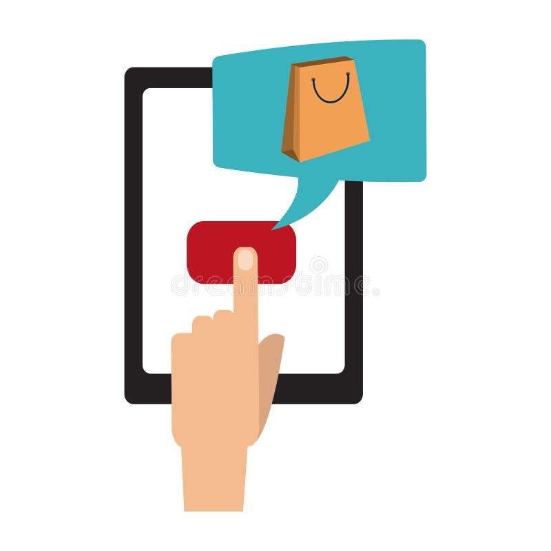 Zakupy i zapłata online ilustracji
