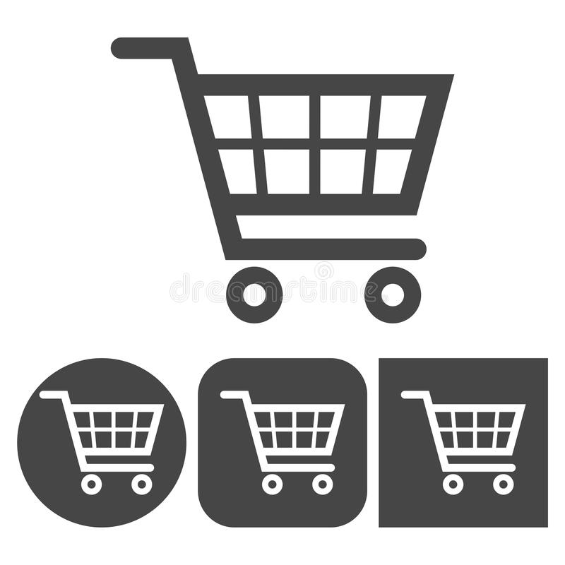 Zakupy ikona - wektorowe ikony ustawiać ilustracja wektor