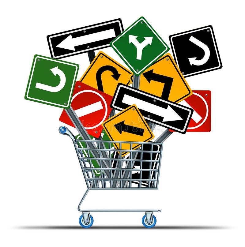 Zakupy kierunek ilustracja wektor