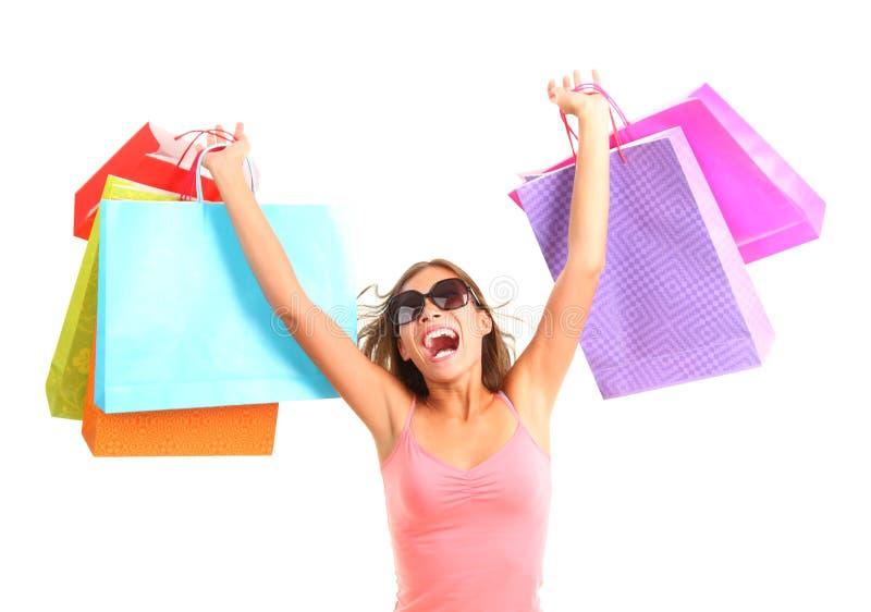 Download Zakupy kobieta obraz stock. Obraz złożonej z mienie, excited - 12360755
