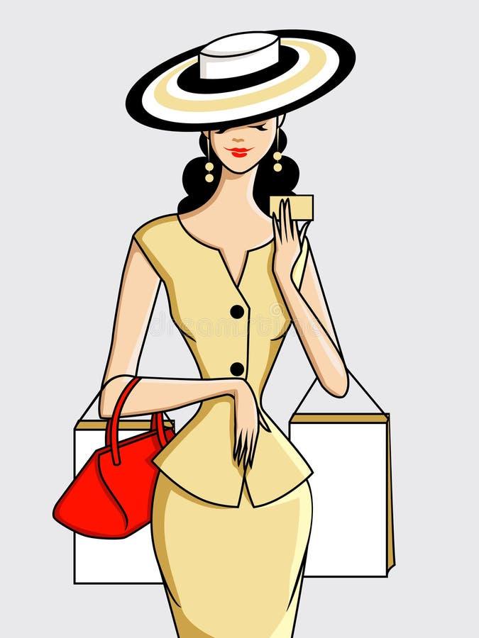 Zakupy Kobieta ilustracji