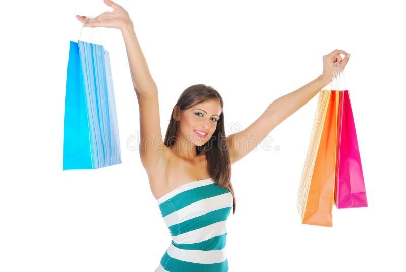 zakupy kobiety young zdjęcia stock