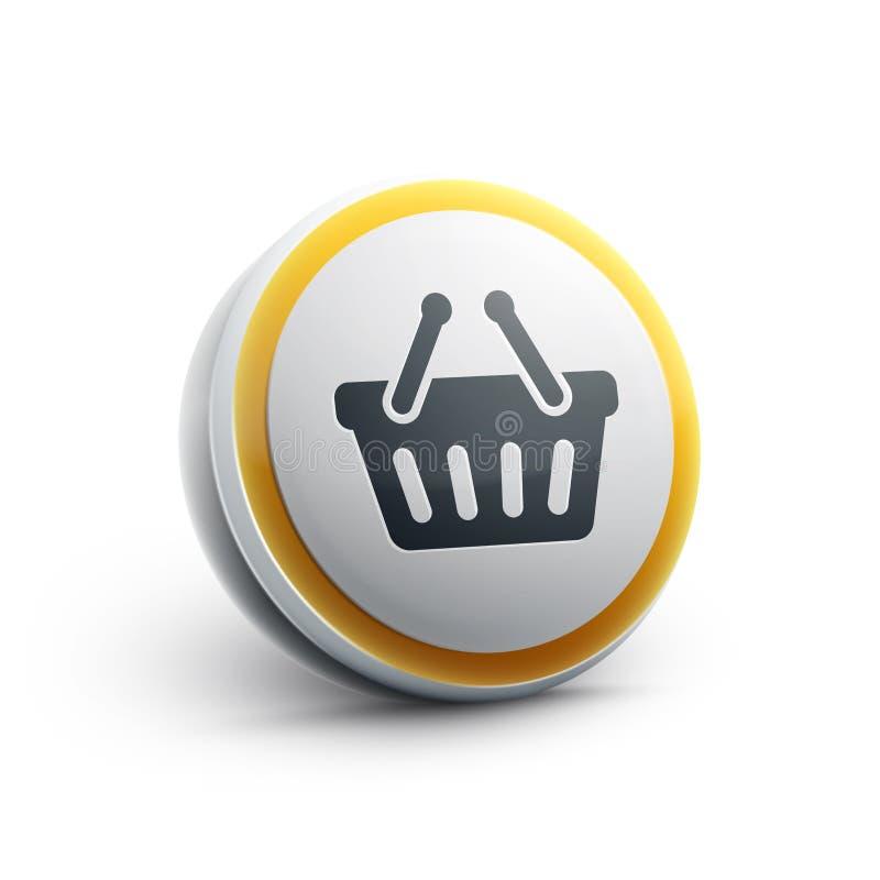 Zakupy kosza sieci ikona royalty ilustracja