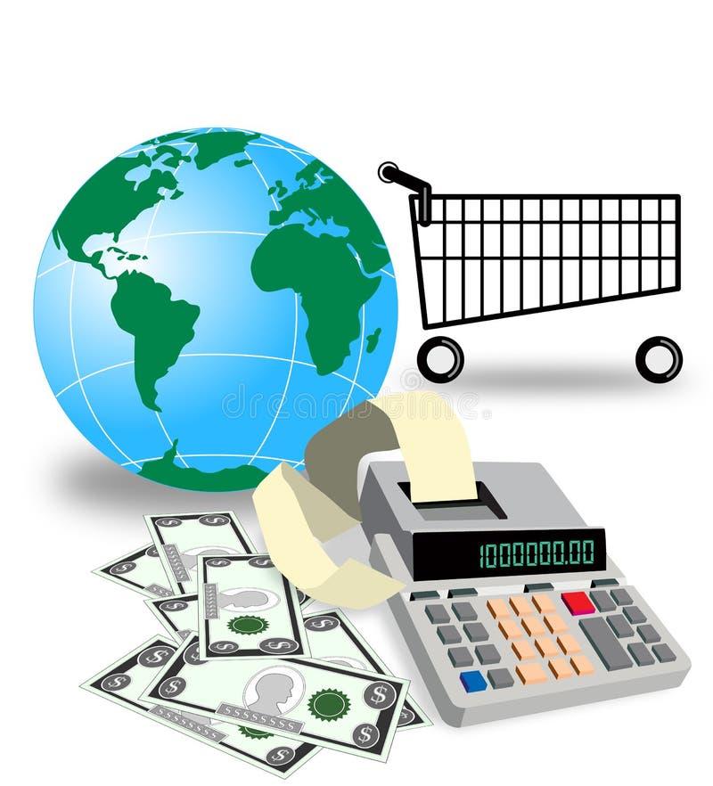 zakupy na całym świecie ilustracji
