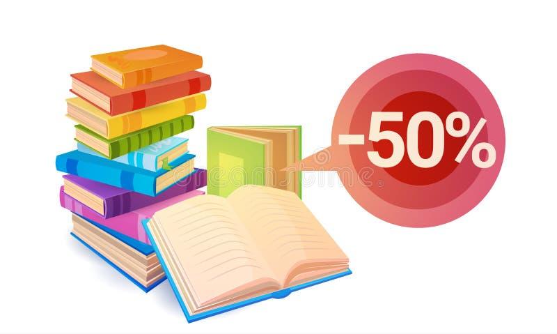 Zakupy sprzedaży książek sterty edukaci pojęcie royalty ilustracja