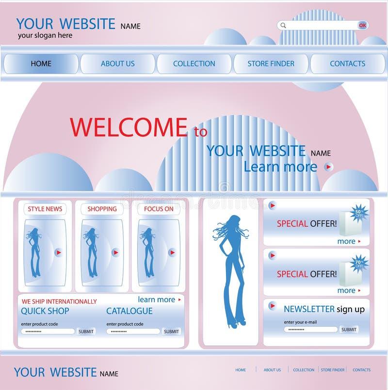 Zakupy strony internetowej projekta szablon, wektor