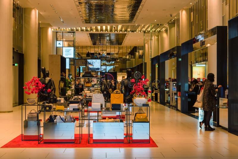 Zakupy teren w louvre muzeum, Paryski Francja zdjęcie royalty free