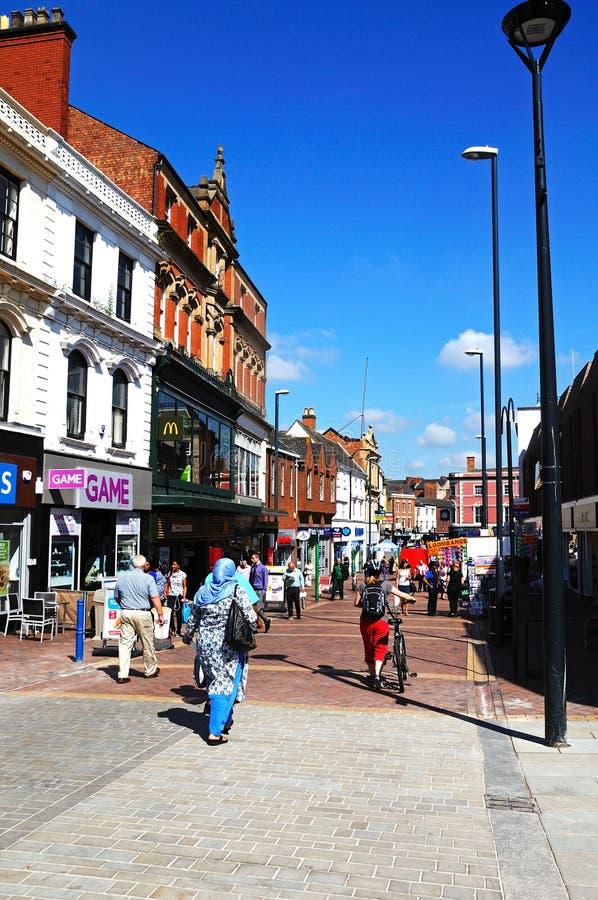 Zakupy ulica, derby zdjęcia royalty free