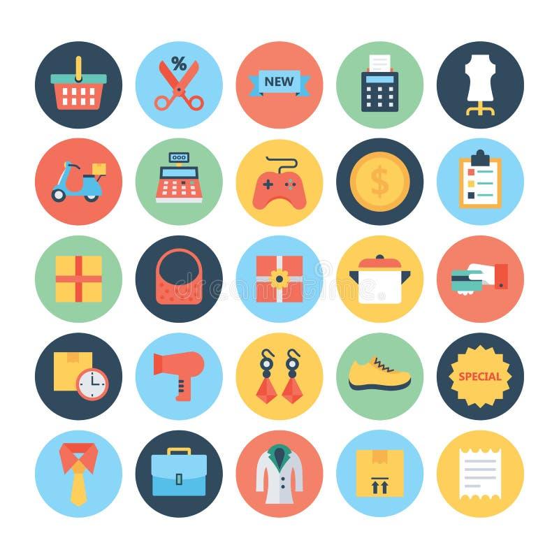 Zakupy Wektorowe ikony 5 ilustracji