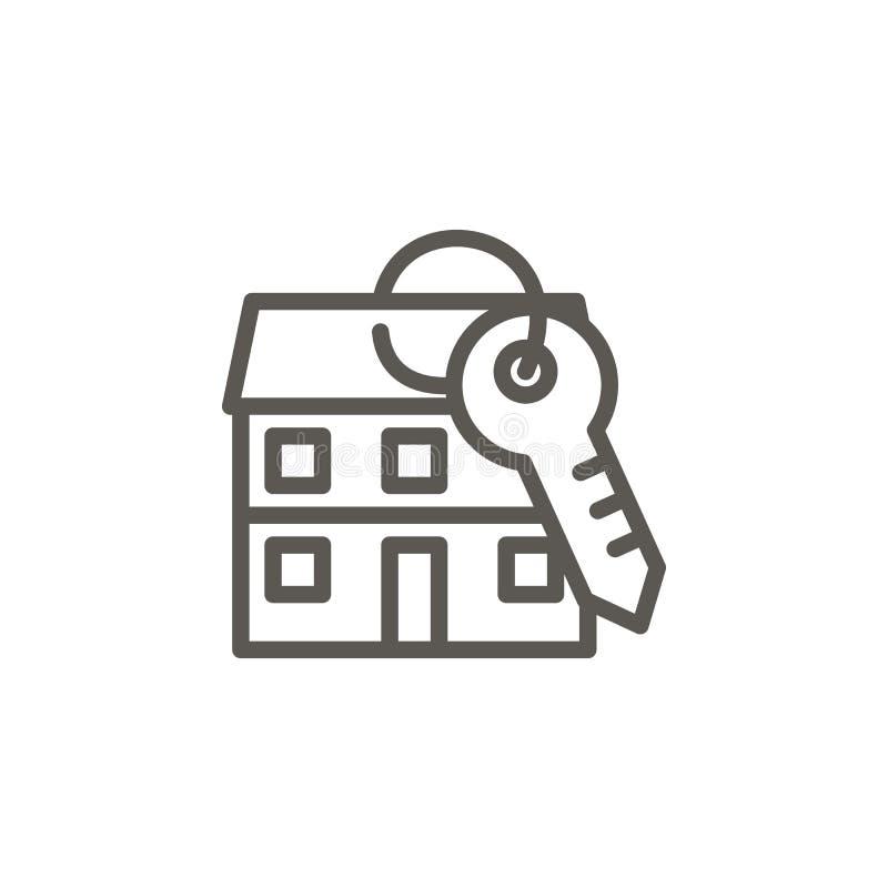 Zakwaterowanie, mieszkanie, dom, kluczowa wektorowa ikona Prosta element ilustracja Zakwaterowanie, mieszkanie, dom, kluczowa wek ilustracji