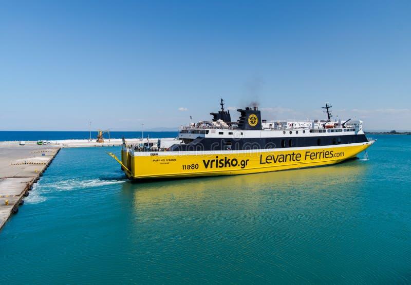 Zakynthos ferries stock images