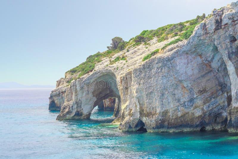 Zakynthos, Greece - amazing Blue Caves travel destination royalty free stock photos