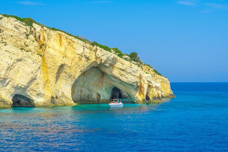 Zakynthos, Greece - amazing Blue Caves travel destination royalty free stock image
