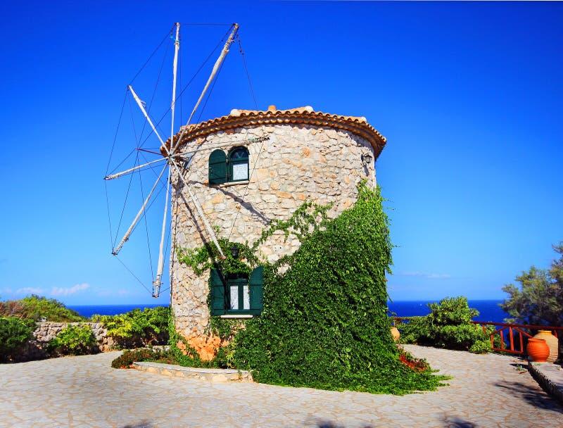 Zakynthos, Greece - windmill stock photo