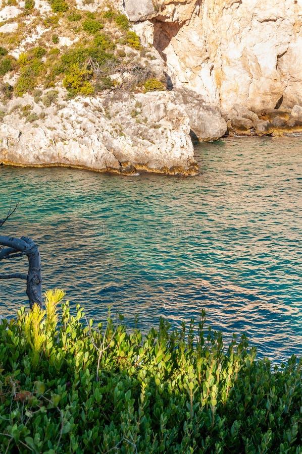 Zakynthos-Insel, Griechenland Eine Perle vom Mittelmeer mit den Str?nden und K?sten passend f?r unvergessliche Seefeiertage stockbild
