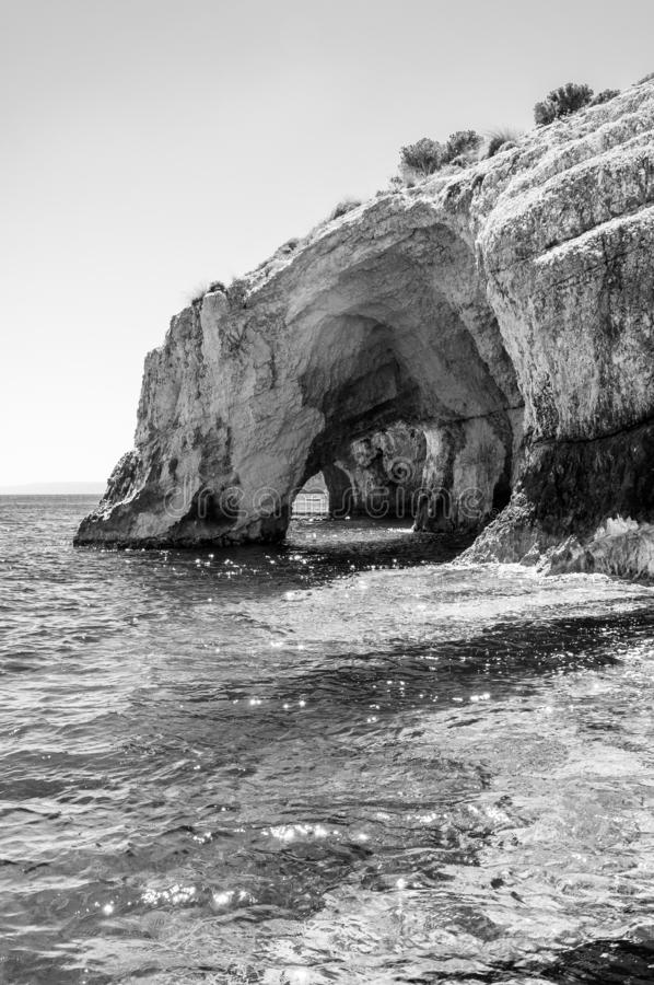 Zakynthos Island, Greece. A pearl of the Mediterranean with beaches and coasts suitable for unforgettable sea holidays. Caves of Keri stock photography