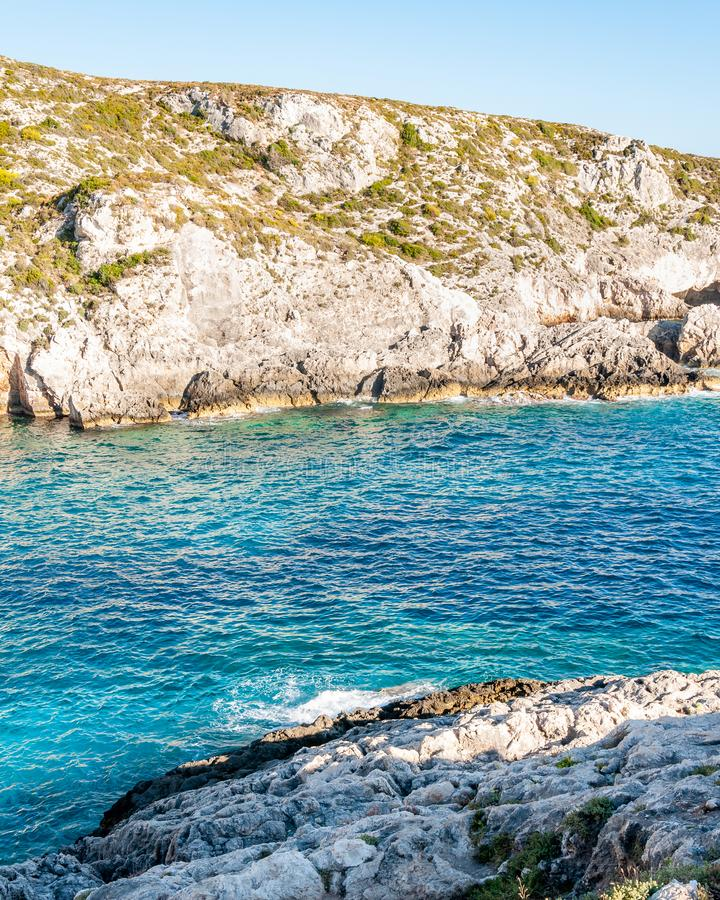 Zakynthos Island, Greece. A pearl of the Mediterranean with beaches and coasts suitable for unforgettable sea holidays royalty free stock images