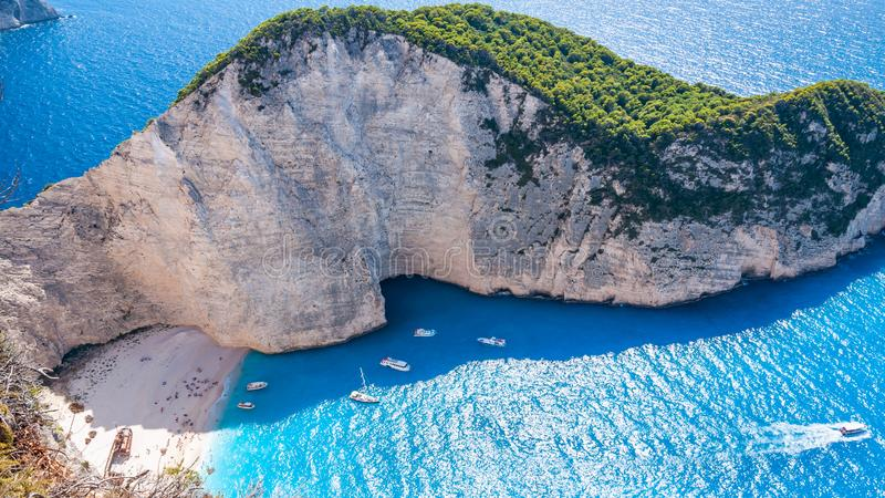 Zakynthos Island, Greece. A pearl of the Mediterranean with beaches and coasts suitable for unforgettable sea holidays royalty free stock photo