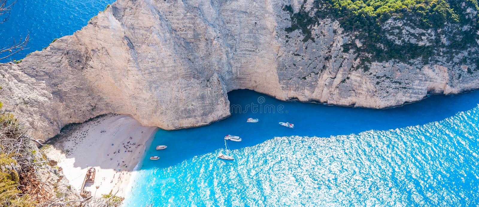 Zakynthos Island, Greece. A pearl of the Mediterranean with beaches and coasts suitable for unforgettable sea holidays royalty free stock image
