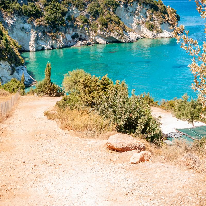 Zakynthos Island, Greece. A pearl of the Mediterranean with beaches and coasts suitable for unforgettable sea holidays royalty free stock photography