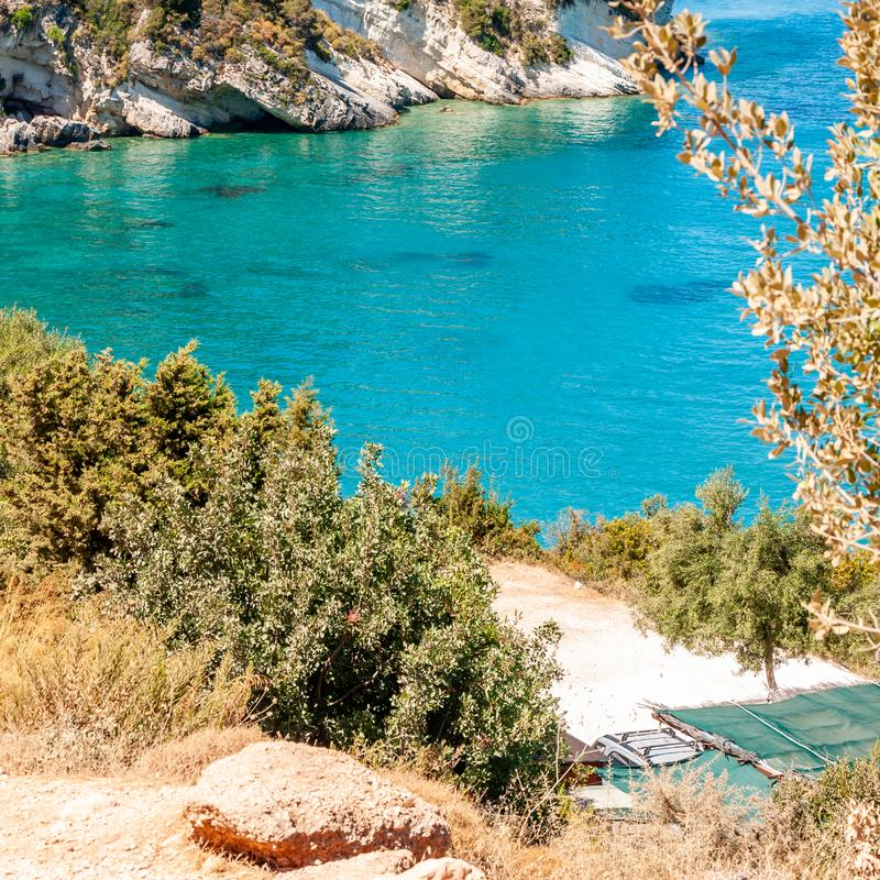 Zakynthos Island, Greece. A pearl of the Mediterranean with beaches and coasts suitable for unforgettable sea holidays royalty free stock photos