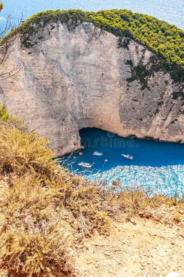 Zakynthos Island, Greece. A pearl of the Mediterranean with beaches and coasts suitable for unforgettable sea holidays stock image