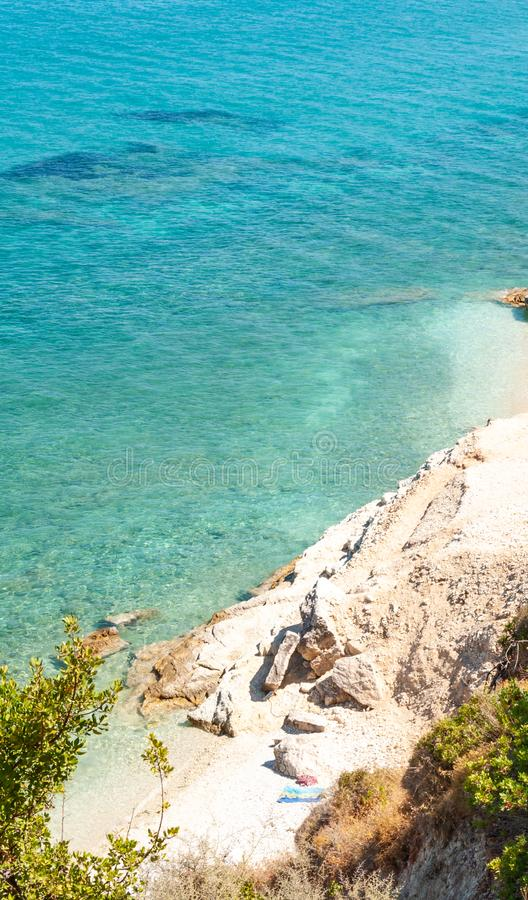 Zakynthos Island, Greece. A pearl of the Mediterranean with beaches and coasts suitable for unforgettable sea holidays. Xigia beach royalty free stock photos