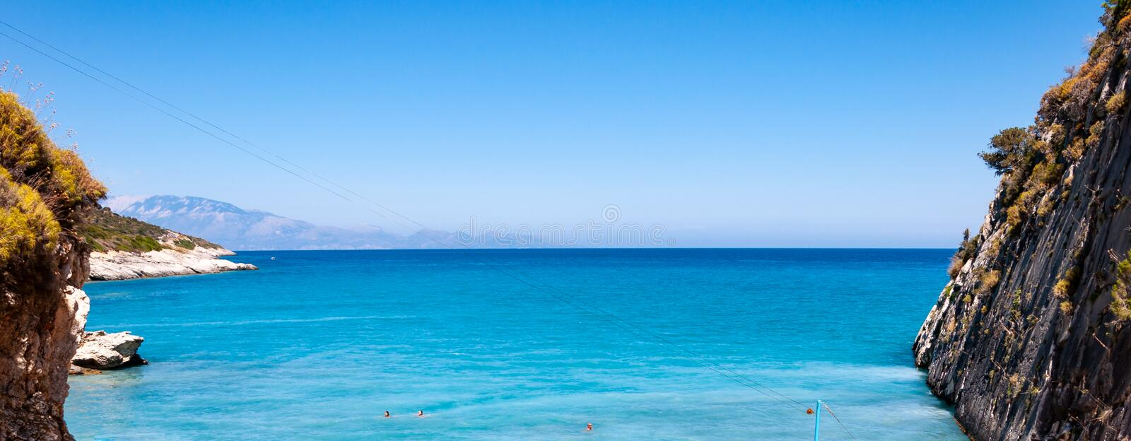 Zakynthos Island, Greece. A pearl of the Mediterranean with beaches and coasts suitable for unforgettable sea holidays. Xigia beach royalty free stock photography