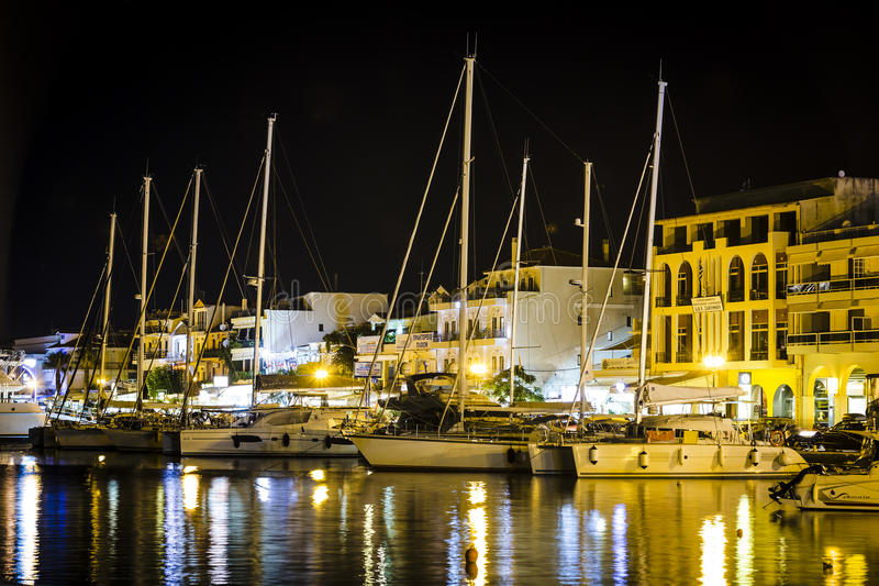 Zakynthos la nuit images libres de droits