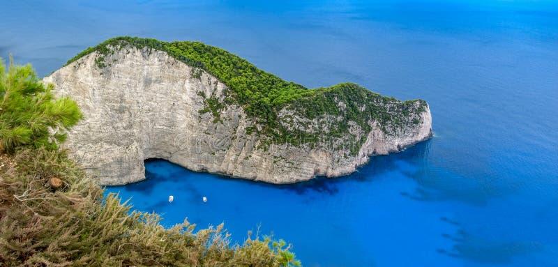Zakynthos Navagio plaża fotografia royalty free