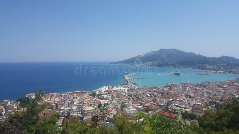 Zakyntos海岛海和海滩的秀丽 免版税库存照片