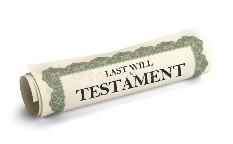 Zal en Testament royalty-vrije stock foto