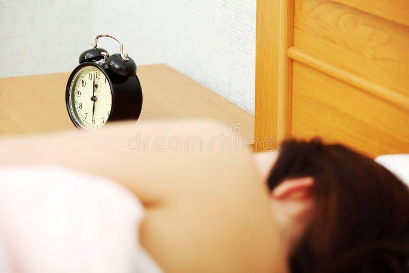 Zal niet wakker. stock afbeelding