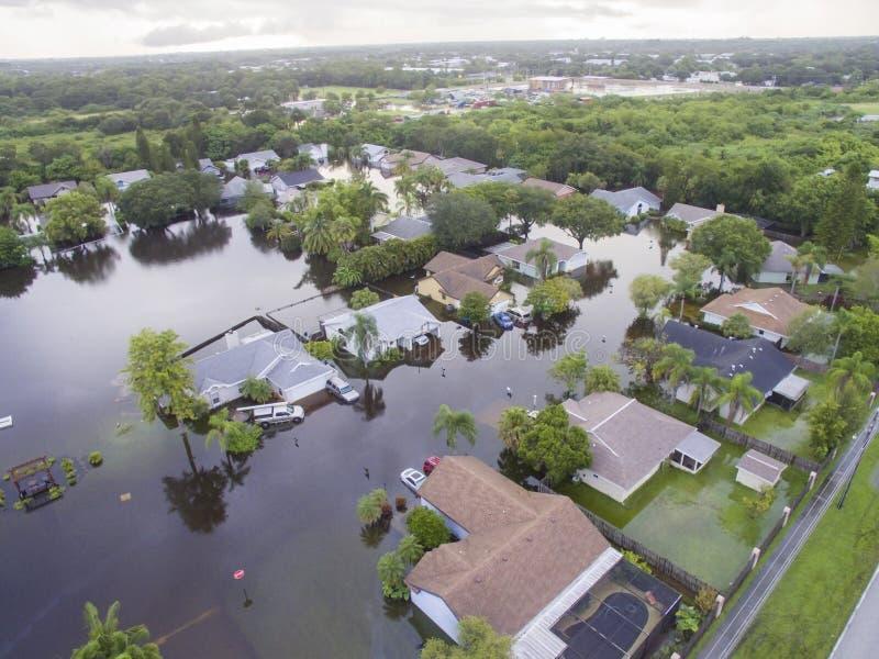 Zalewający domy w Sarasota, FL fotografia stock