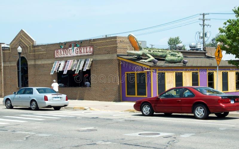 Zalewisko grill w Belleville Michigan zdjęcia royalty free