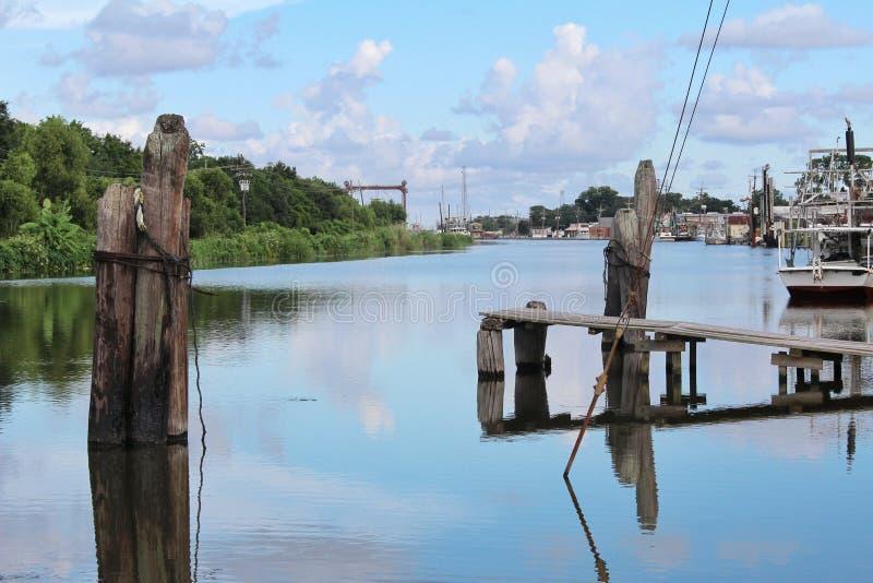 Zalewisko Lafourche, Luizjana fotografia royalty free