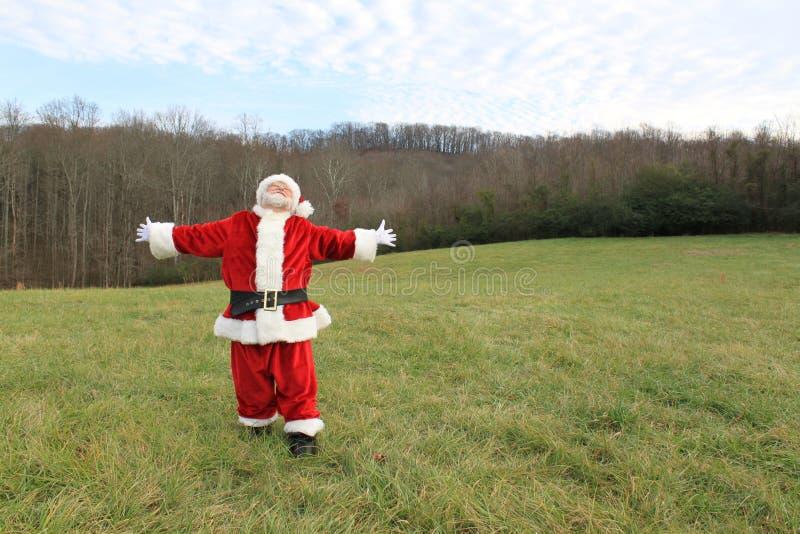 Zalige Kerstman 2 royalty-vrije stock afbeeldingen