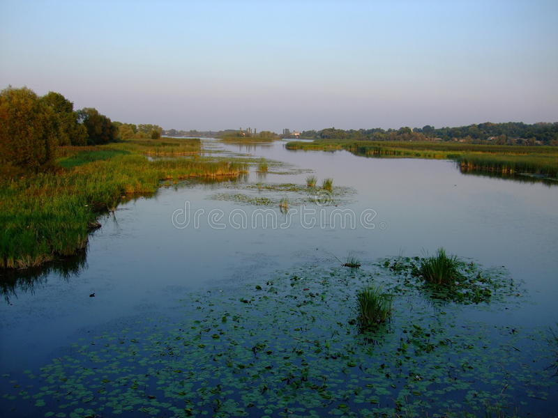 Zaliv.Reka southern Bug Vinnytsia region . royalty free stock images