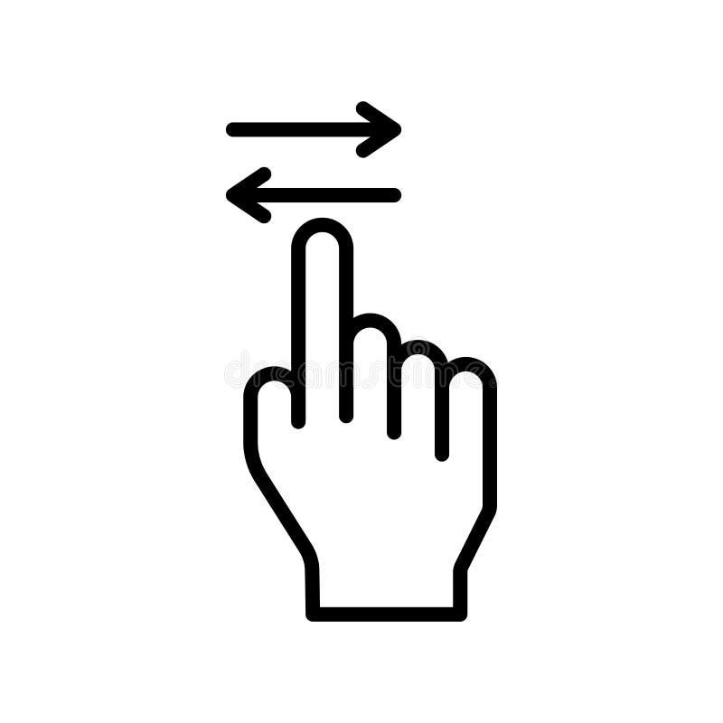 Zamach ikony wektoru znak i symbol odizolowywający na białym tle ilustracji