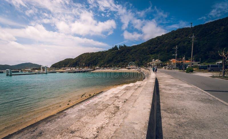 Zamami村庄,冲绳岛 免版税库存照片