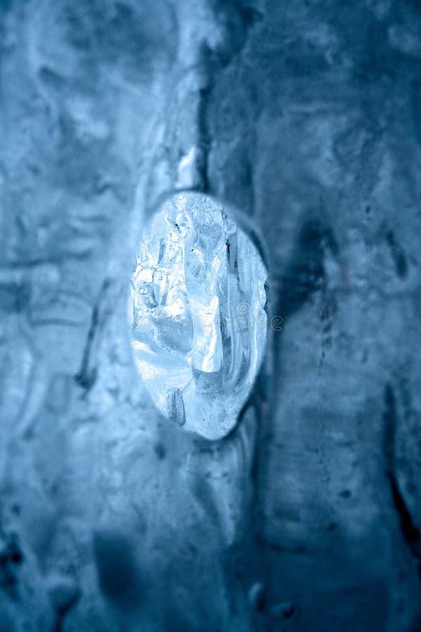Zamarznięta woda icefall fotografia royalty free