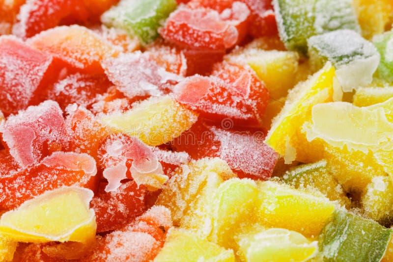Zamarzniętego dzwonkowego pieprzu i surowego warzywa jedzenie, smakosz zdjęcie royalty free