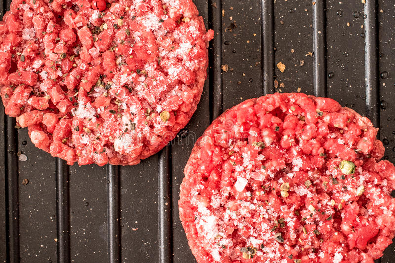 zamarznięty hamburger obrazy stock