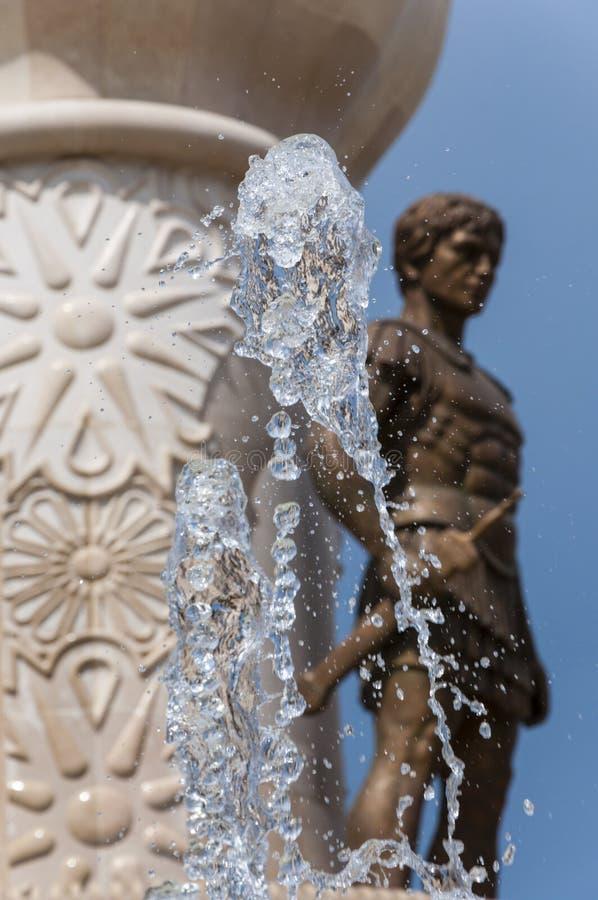 Zamarznięty kryształ - jasny wodny pluśnięcie, część wspaniała fontanna zdjęcie royalty free