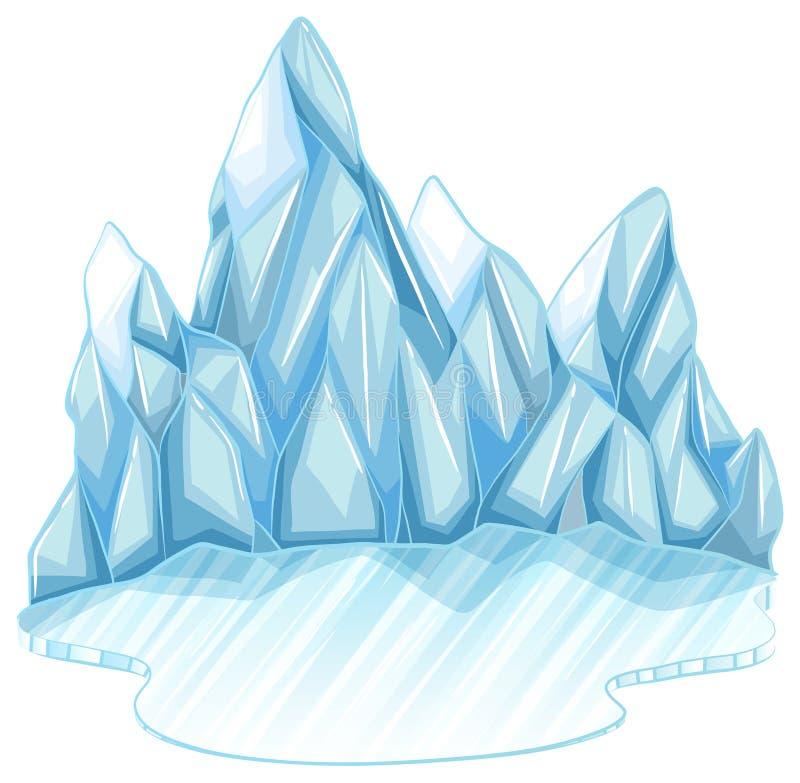 zamarznięty lód royalty ilustracja