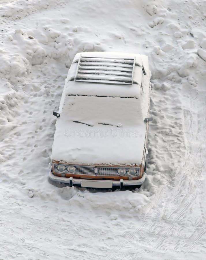 Zamarznięty samochód obrazy stock