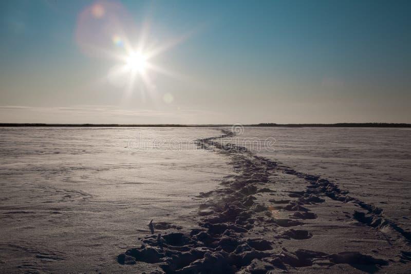 Download Zamarznięty jezioro zdjęcie stock. Obraz złożonej z ścieżka - 13325118