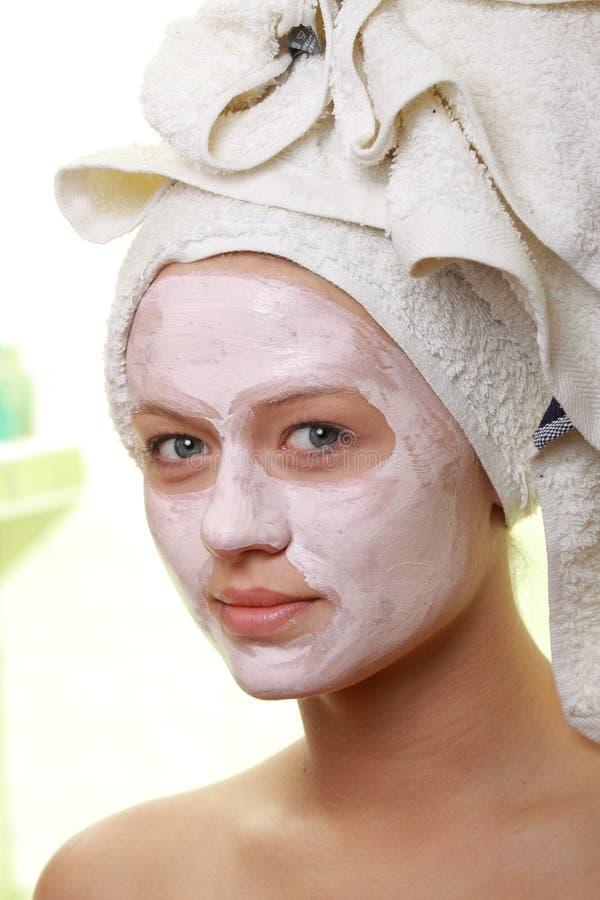 Zamaskowany Piękno - twarzowy traktowanie zdjęcia royalty free