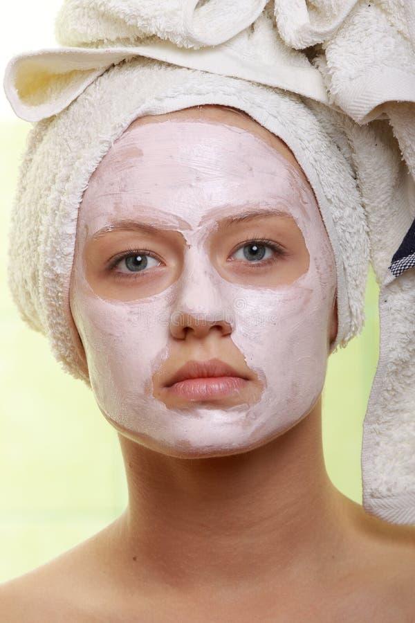 Zamaskowany Piękno - twarzowy traktowanie zdjęcia stock